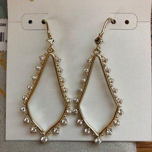 Kendra Scott Bea yellow gold drop earrings - new!